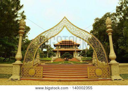 Buu Long entrance temple in Ho Chi Minh city vietnam