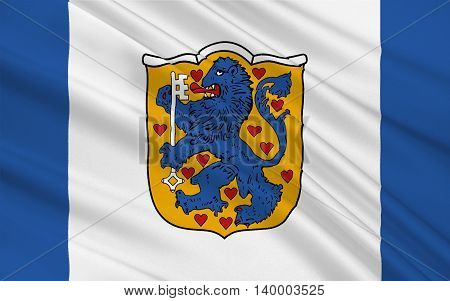 Flag of Harburg is a district in Lower Saxony Germany. 3d illustration