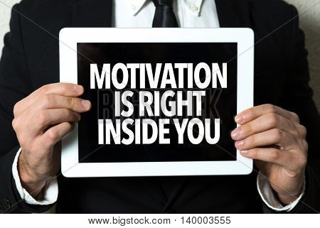 Motivation is Right Inside You