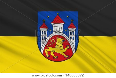 Flag of Gottingen is a university town in Lower Saxony Germany. 3d illustration