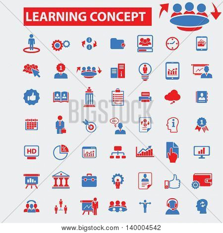 learning concept icons