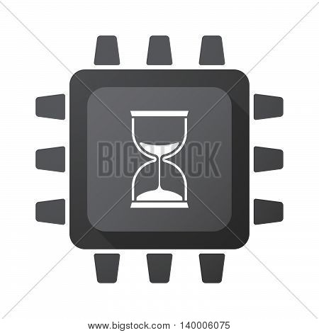 Isolated Cpu Chip Icon With A Sand Clock