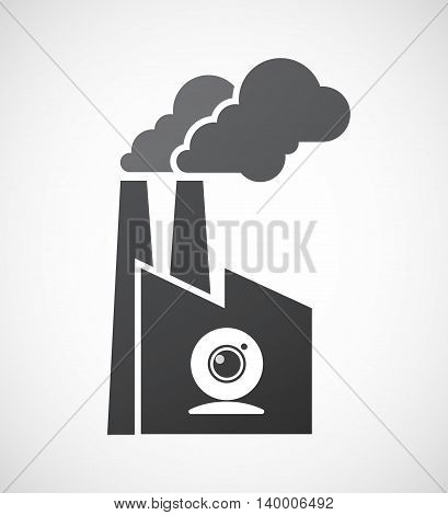 Isolated Factory Icon With A Web Cam
