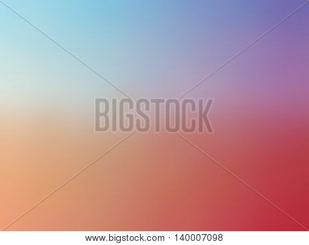 Abstract rainbow pink purple blue colored blurred background.