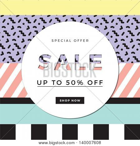 Sale design template for banner or poster