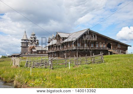 Karelia. Island of Kizhi. Ensemble of Kizhi Pogost and objects of wooden architecture.