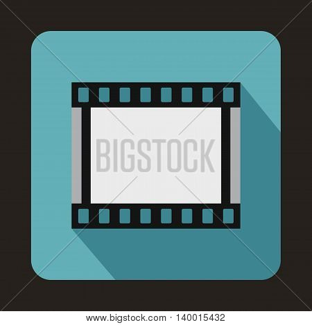Film strip icon in flat style on a baby blue background