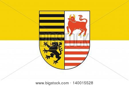 Flag of Elbe-Elster is a district in the southern part of Brandenburg Germany