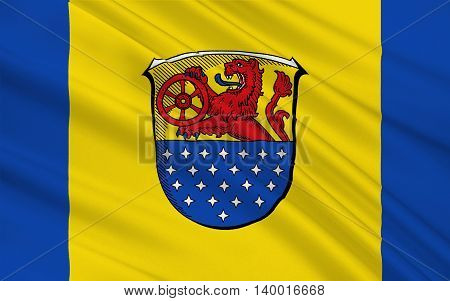 Flag of Darmstadt-Dieburg is a district in the south of Hesse Germany. 3d illustration