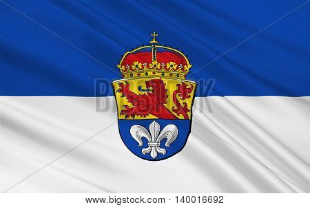 Flag of Darmstadt is a city in the state of Hesse in Germany. 3d illustration