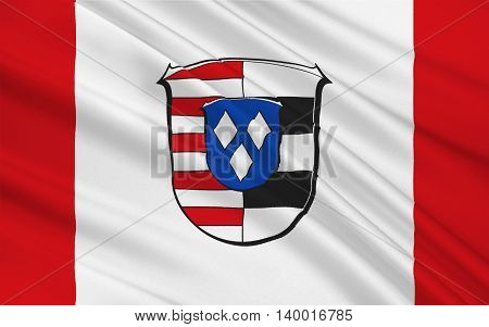 Flag of Gross-Gerau is a district in the south of Hesse Germany. 3d illustration