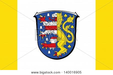 Flag of Hochtaunuskreis is a district in the middle of Hesse Germany