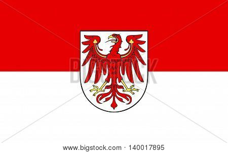 Flag of Brandenburg is one of the sixteen federated states of Germany. The capital is Potsdam