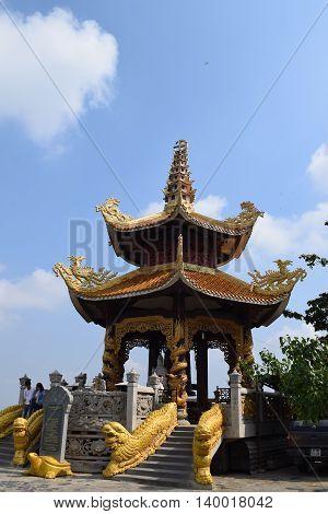 Binh Duong Vietnam June 16 2016: Buddhism Chau Thoi temple