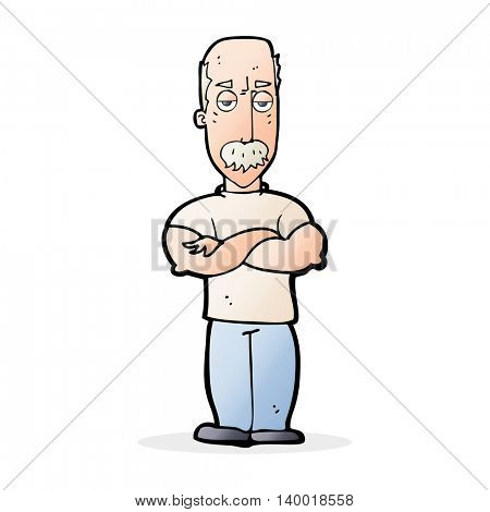 cartoon angry man with mustache