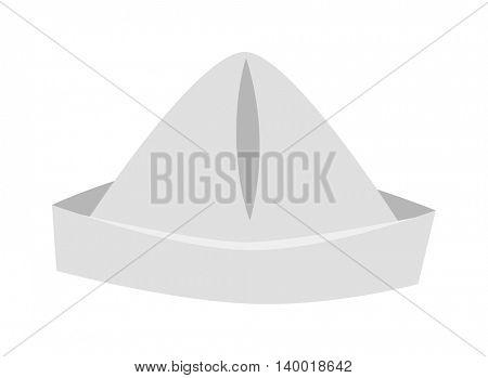 Paper hat vector illustration.