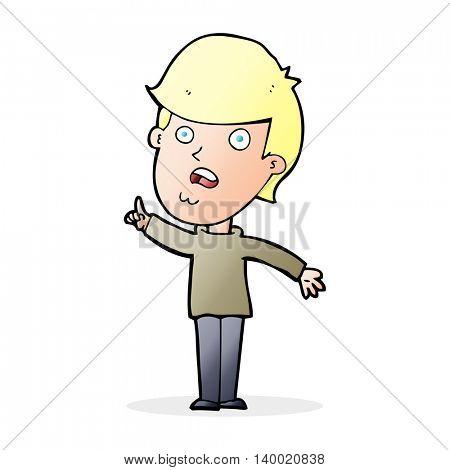 cartoon man asking question