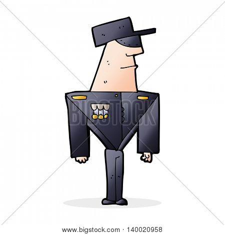 cartoon guard