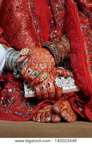 Islamic wedding bride in a Muslim marriage.