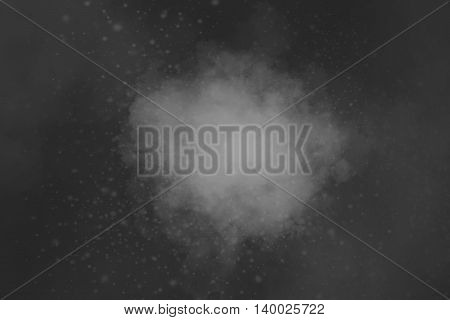 Black And White Abstract Powder Explosion Background