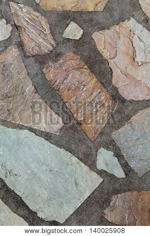 Background of stone and concrete red granite.