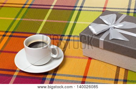 Coffee Cup gift box on the table