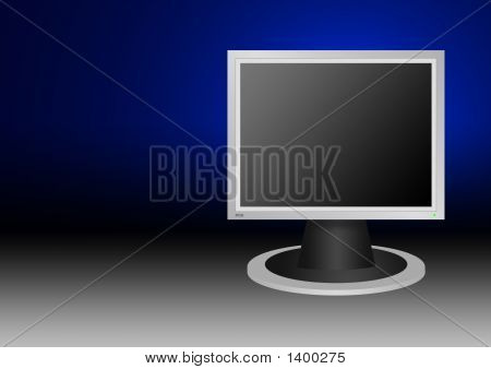 Lcd Monitor 4X3 Style  Background