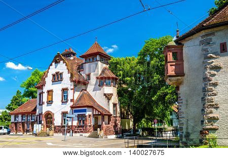 View of a traditional house in Basel, Switzerland