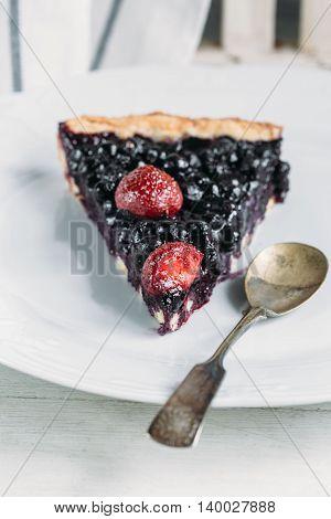 piece of Homemade berry pie. food concept