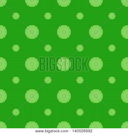 Creative Ornamental Seamless Green Pattern. Geometric Decorative Background
