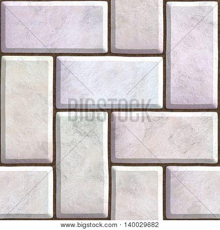 brick pavers seamless texture. 3D illustration architecture