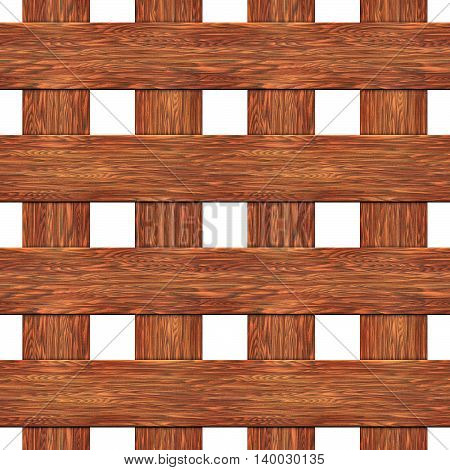 A fence made of boards seamless texture 3D illustration
