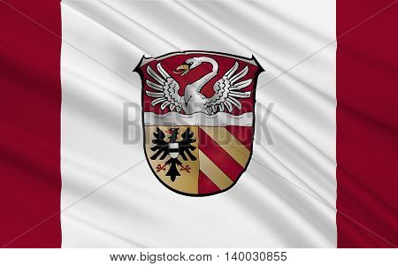 Flag of Main-Kinzig-Kreis is a district in the east of Hesse Germany. 3d illustration