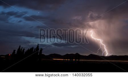 Lightning Strike in South Africa using a Long Exposure
