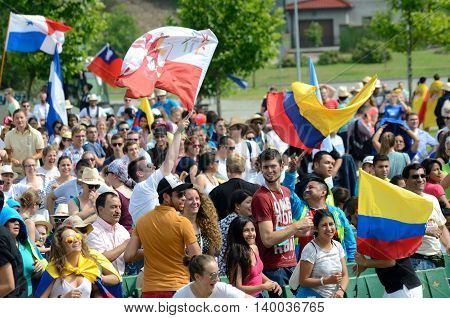 Pilgrims With Flags, World Youth Day 2016