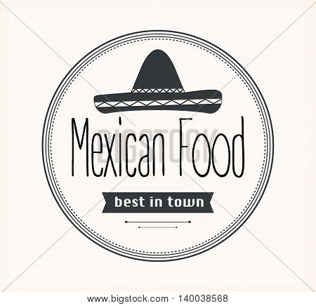 Mexican food logo. Badges, labels, logotype for Mexican food. Mexican vector logo design template