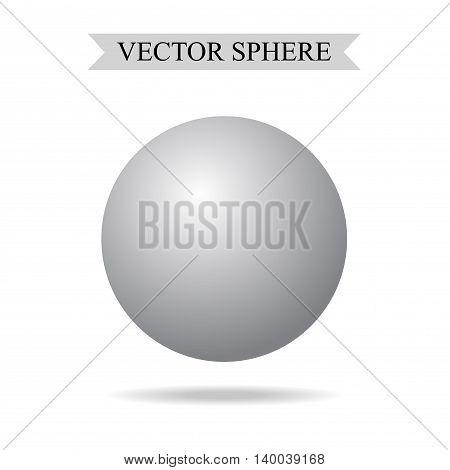 3d Sphere Concept  Vector Realistic Illustration /