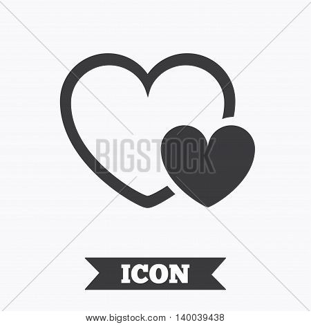 Hearts sign icon. Love symbol. Graphic design element. Flat hearts symbol on white background. Vector