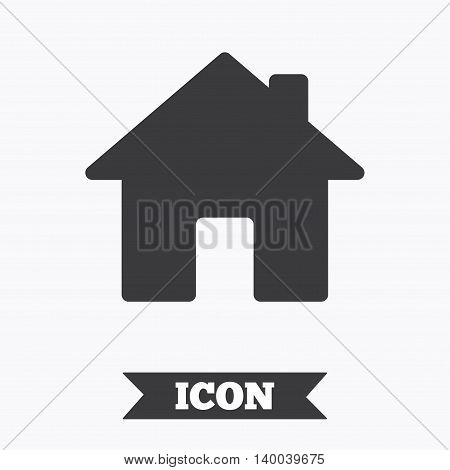 Home sign icon. Main page button. Navigation symbol. Graphic design element. Flat home symbol on white background. Vector