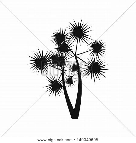 Prickly palm icon in simple style isolated on white background. Flora symbol