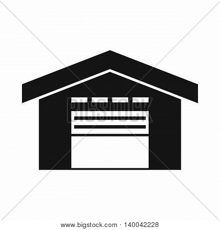 Warehouse icon in simple style isolated on white background. Storage symbol