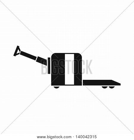 Cart on wheels icon in simple style isolated on white background. Transport symbol