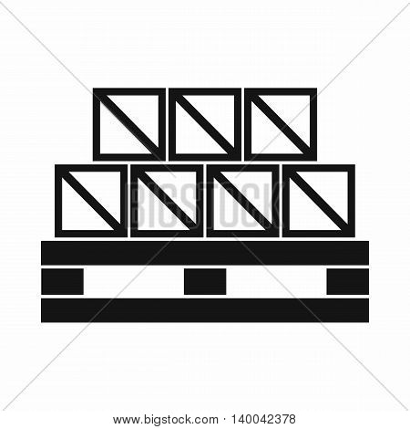 Boxes goods icon in simple style isolated on white background. Warehousing symbol