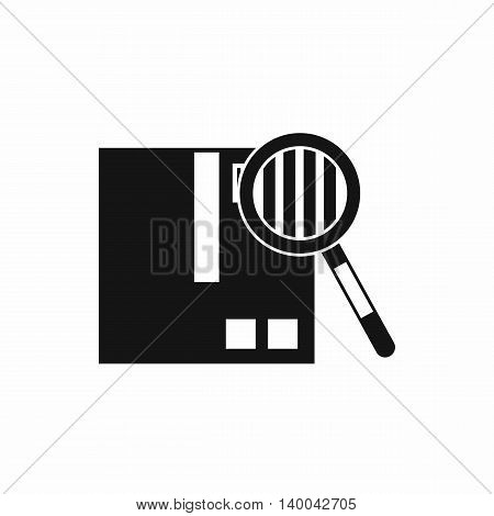 Quality control icon in simple style isolated on white background. Checking symbol