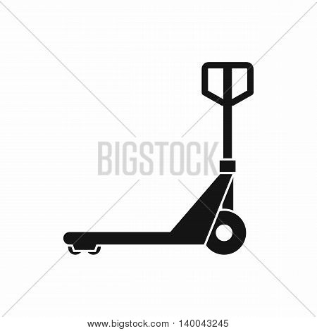 Hand truck icon in simple style isolated on white background. Transport symbol