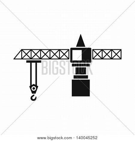 Crane icon in simple style isolated on white background. Weight symbol