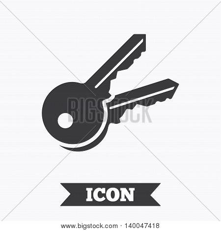Keys sign icon. Unlock tool symbol. Graphic design element. Flat keys symbol on white background. Vector