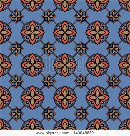 Medieval book miniature seamless pattern. Can be used for web print and book design home decor fashion textile wallpaper.