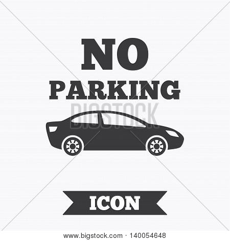 No parking sign icon. Private territory symbol. Graphic design element. Flat no parking symbol on white background. Vector