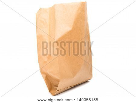 paper bag container, space on white background